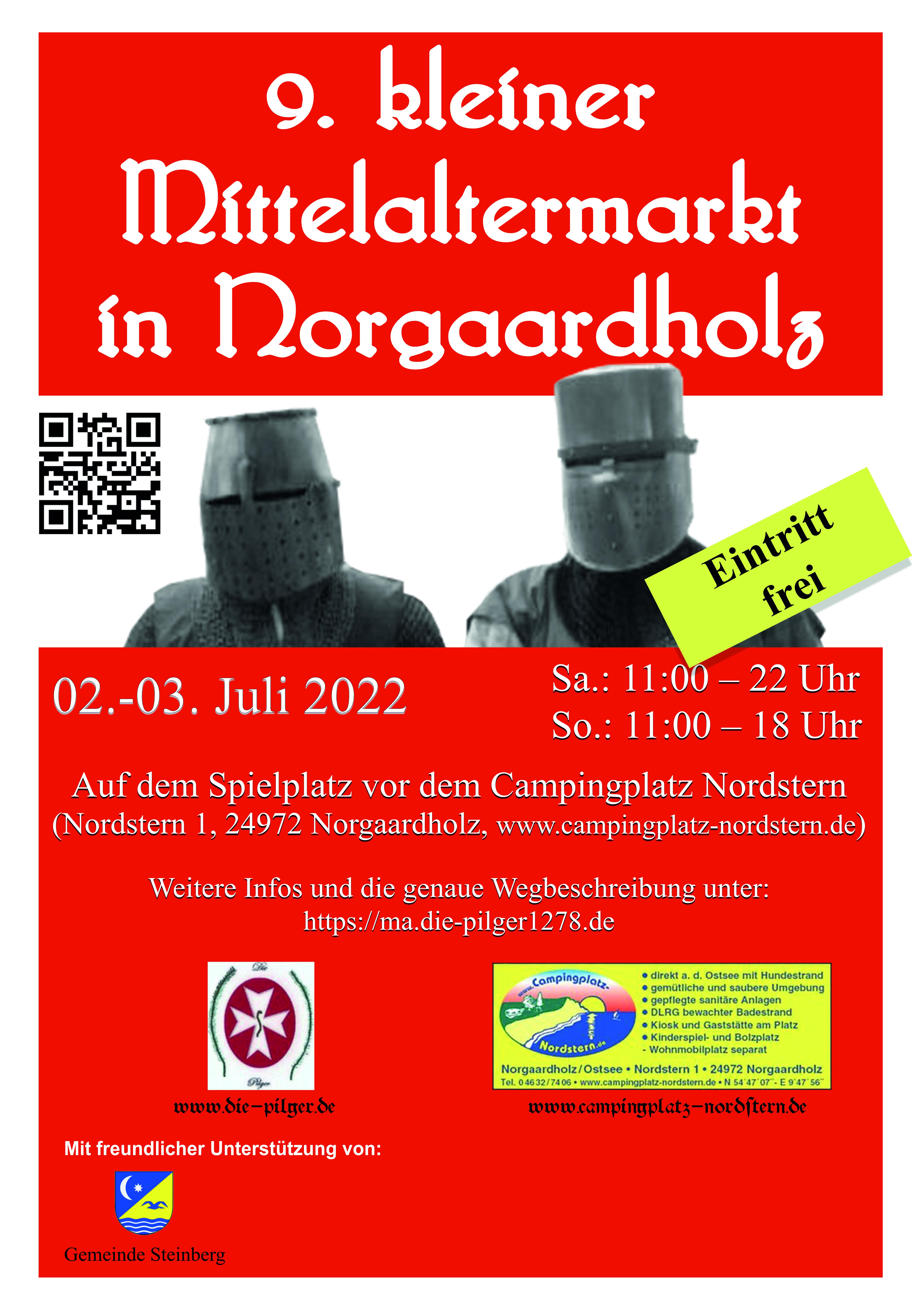 Plakat - 9. kleiner Mittelaltermarkt in Norgaardholz